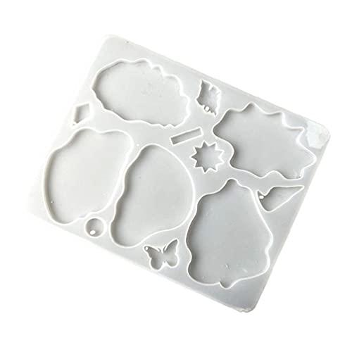 YUSHU Molde de resina epoxi de cristal Coaster Cup Mat Pad Molde de silicona Manualidades de bricolaje Decoraciones Adornos Herramientas de fundición de joyas Molde de resina de silicona Moldes de res