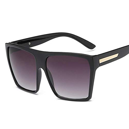 ShSnnwrl Único Gafas de Sol Sunglasses Gafas De Sol Cuadradas Vintage para Mujer, Gafas con Parte Superior Plana para Mujer, Gafa