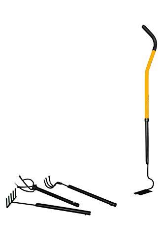 TORNADICA Kit de Herramientas de Jardinería Mini, Cuidado de Jardines y Macetas, Incluye Mini Cultivador, Arado de Surco, Extractor de 3 Dientes y Mini Rastrillo, Altura Ajustable máx 95cm, 1,55kg