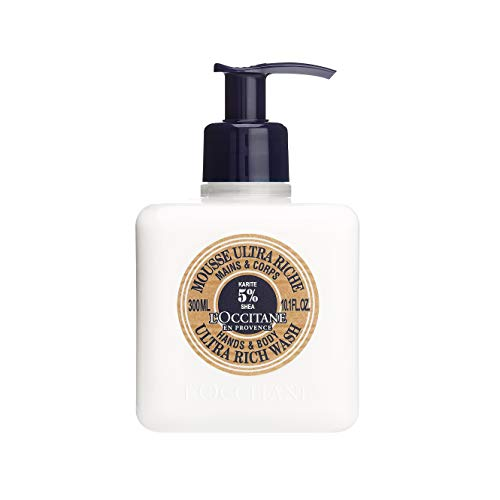 L'Occitane Ultra-Rich Hand & Body Wash Enriched with 5% Shea Milk, 10.1 Fl Oz