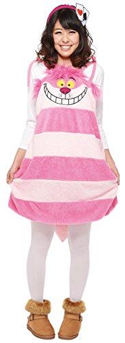 Van het land van Disney Wonderland Alice Cheshire Cat overalls kostuum Dames Lengte 74cm 95634