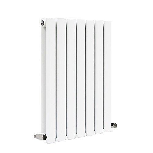 Nrg-radiator moderne double panneau ovale Colonne Radiateur de salle de bain Blanc de chauffage central