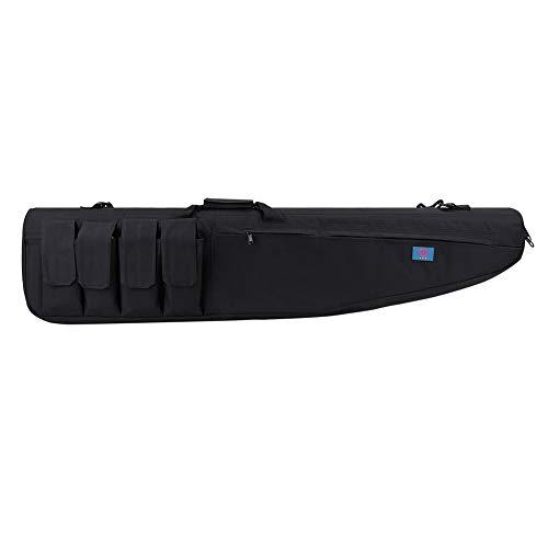 LUVODI Waffentasche Rifle Case Gun Bag Gewehrtasche Futteral Gewehrkoffer mit 5 Beutel 120cm X 28cm schwarz
