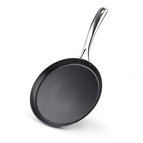 Cooks Standard Nonstick Hard Anodized 9.5-inch 24cm Crepe Griddle Pan, Black