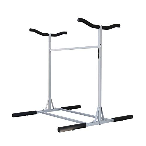 Sparehand Double-Sided Freestanding Triple Storage Rack for 3 Kayaks or SUPs, Tools-Free Assembly,...