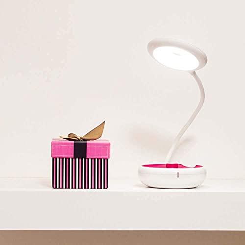 FHUA Lámpara Escritorio Extraño Nuevo Modelo Creativo LED luz de Ojo Recargable multifunción 49.5cm * 11cm * 3.8cm (Color: Azul) (Color : Pink)