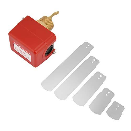 Interruptor de control de paleta, sistema de tratamiento de agua Interruptor de flujo de agua de acero inoxidable 304, conector de cobre de 1'/ 25 mm, aire acondicionado central, etileno