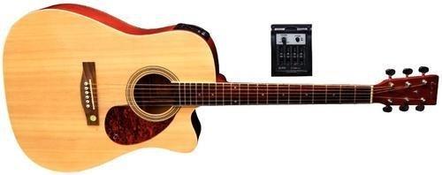 Tenson F501320 Akustikgitarre D10-CE, Cutaway Elektro-Acoustic, creme