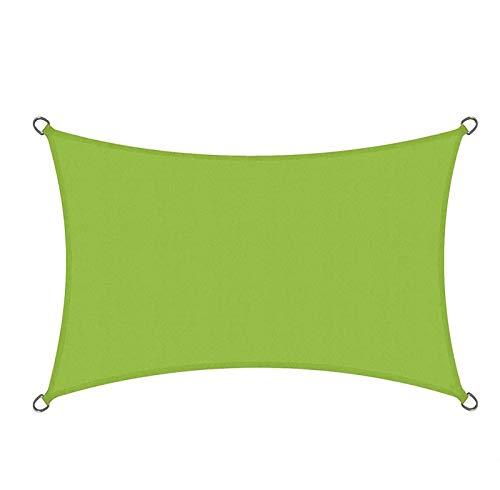 QI-CHE-YI Außenmarkise, Regen- und Sonnenschutzgarten Sonnenschirm Segel, Balkon und Terrasse Sonnenschutz-Baldachin,Grün,2x4m