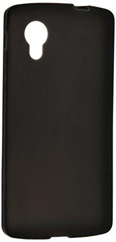 ELECOM NEXUS5 シリコンケース ブラック 保護フィルム付 PE-LNX5SCBK