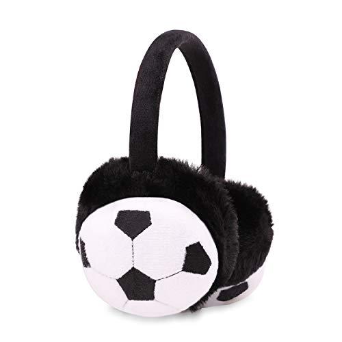 Kids Cute Soccer Football Cartoon Earmuff Winter Cold Weather Keep Ear Warm Cover Headband Furry Earwarmer for Boy Girl