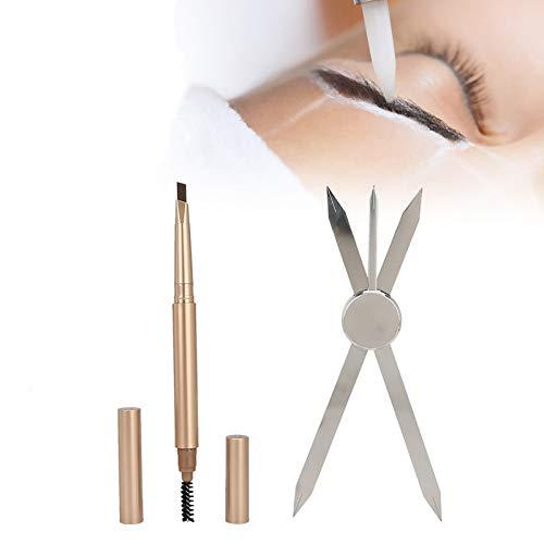 Linijka do Microblading miarka do brwi narzędzia do rysowania brwi przewodnik kompasu narzędzia do szablonów szablony do makijażu narzędzia do pielęgnacji