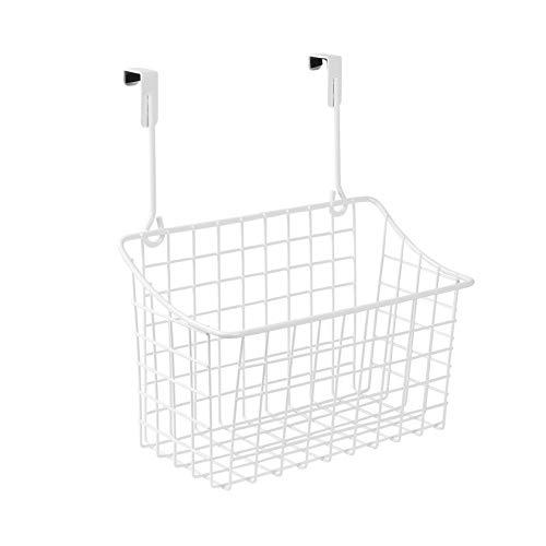Spectrum Diversified Grid Storage Basket, Over the Cabinet, Steel Wire Sink Organization for Kitchen & Bathroom, Medium, White