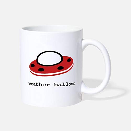 Taza de café con diseño de globo meteorológico, regalo para mamá y papá, de cerámica, 325 ml