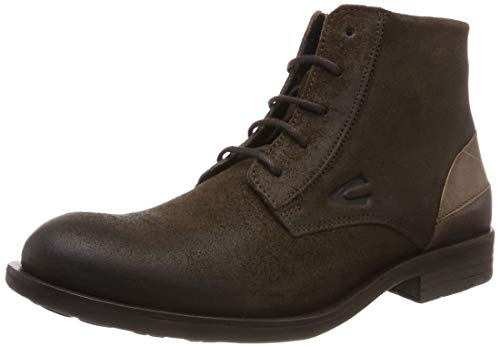 camel active Herren Check 12 Biker Boots, Braun (Military 3), 40 EU