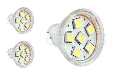 MR11 GU4 Bi-Pin Sockel Akzent-Spot Lampe LED Leuchtmittel AC DC 12 V Ersatz für Halogen-Spotlampen von Haus & Marine Beleuchtung, Boot, Yacht, Wohnmobil, Wohnmobil & alle Low-Volt-Systeme – Warmweiß, 1,5 W (3 Stück)