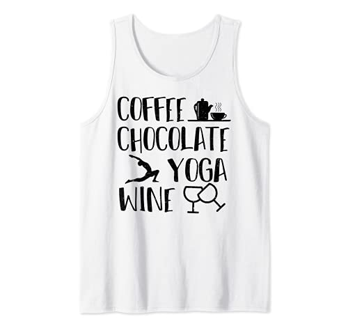 Mamá: Coffee Chocolate Yoga Wine - Vino Camiseta sin Mangas