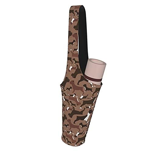 Kteubro Boxer, Bulldog On Multi-Funcional Yoga Mat Bolsa de Almacenamiento Bolsillos de Carga para Más Accesorios de Yoga