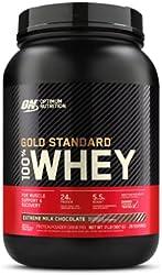 Optimum Nutrition Gold Standard 100% Whey Protein Powder, Extreme Milk Chocolate, 2 Pound (Packaging