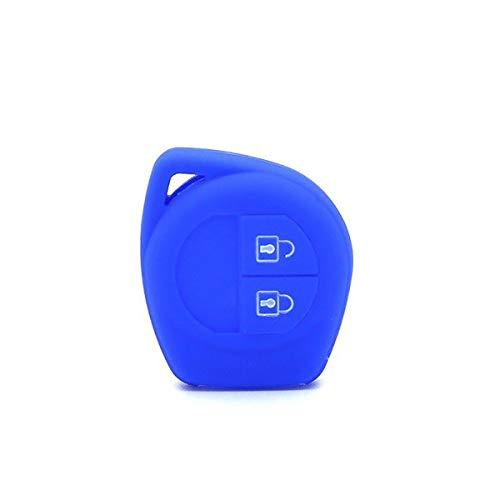 Cover Silicone Portachiavi Accessori Ricambi Copri Guscio Chiave Telecomando Auto 2 Tasti Compatibile Con Suzuki SX4 - Swift - Vitara - Liana – Splash – Alto – Ignis – Colori Assortiti (Blu)