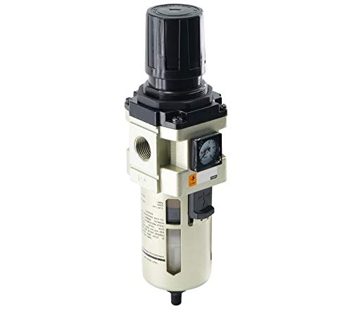 Fittingteile Druckluft Filterregler mit Manometer Wasserabscheider Kondensat Druckminderer (Gewindegröße: G 1/2