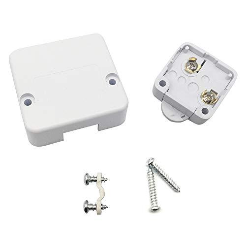 FUJIE Interruptor de la puerta Empuje de superficie Interruptor de contacto para puerta de mueble Iluminación Interruptor automático 2A 250V la luz de puerta del interruptor del empuje Blanco