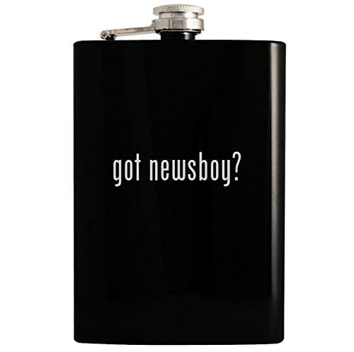 got newsboy? - Black 8oz Hip Drinking Alcohol Flask