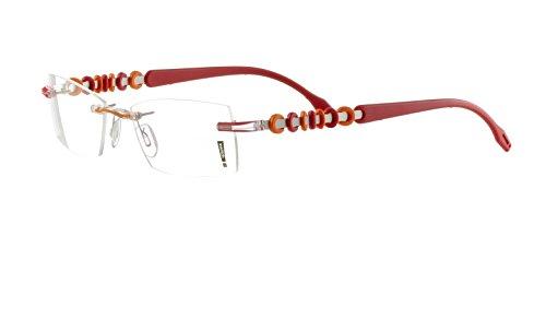 Switch it! Garnitur mit Kreisen im 3D-Effekt - Wechselbügel in verschiedenen Farben (3189: rot-orange)
