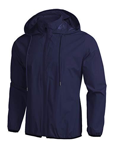 COOFANDY Chubasquero para hombre, plegable, impermeable, con capucha, para exteriores, ideal para...