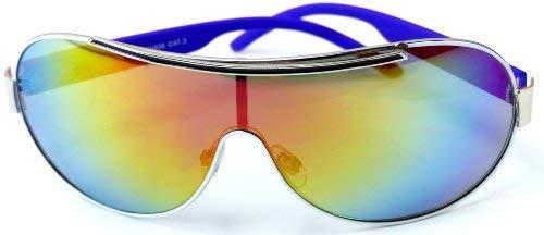 Trendit Herren Damen Sonnen Brille blau Oneshade CE UV400