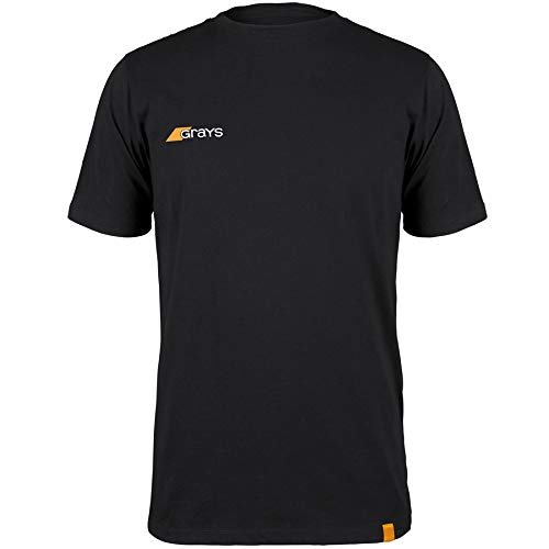 Grays Junior T-Shirt, Schwarz, 11-12