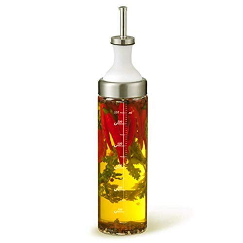 Botellas del condimento de aceite Frasco de vidrio condimento de acero inoxidable a prueba de fugas Ungüento Cocinar transparente filtración del hogar botella de aceite tanque de Mickey Condimento Fra