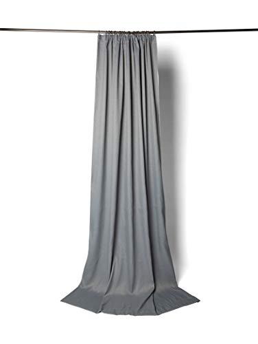 TOM TAILOR Unisex Home Verdunklungsschal mit Smokband Grey,245/140