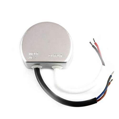 LED Trafo 20W rund Rundnetzteil 12V/DC Wasserfest IP67 Unterputzdose