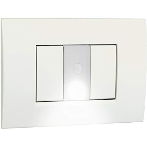 vemer VE770600 Lampada segnapasso da Incasso MUVY, Bianco Opale
