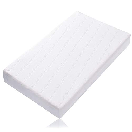 BABELIO Premium Memory Foam Crib Mattress, Baby Crib Mattress and Toddler Mattress, Double-Sided Sleep for Infant/Toddler/Baby, Waterproof Lining, Removable Washable Cover, 52' x 27.5' x 4.7'