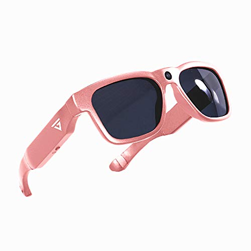 GoVision Royale Ultra High Definition Video Camera Sunglasses Water Resistant Eyeglasses 8MP Camcorder Wide Angle View Unisex Design Stylish Water Resistant and Lightweight Frame Rose Gold