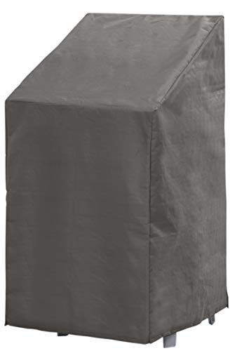 Cubierta Funda Protectora para Sillas Jardin   Gris   66 x 95 x 133/93 cm   TÜV Rheinland Certificada   Fundas para Muebles   Impermeable / Resistente al Agua   Impermeable   Protección