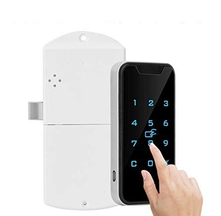 Electronic Cabinet Lock, Zinc Alloy Smart Digital RFID Password Keyless Lock Touch Keypad Electronic Wardrobe File Door Drawers Lock