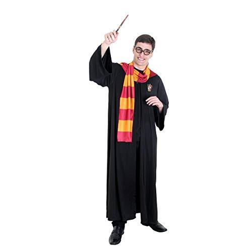 Fantasia Harry Potter Adulto 945104-GG, Preto/Vermelho/Amarelo, Sulamericana Fantasias