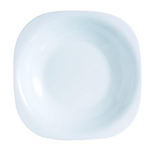 Luminarc 19 Piezas Carine Vajillas combinadas, Vidrio Opal, Blanco