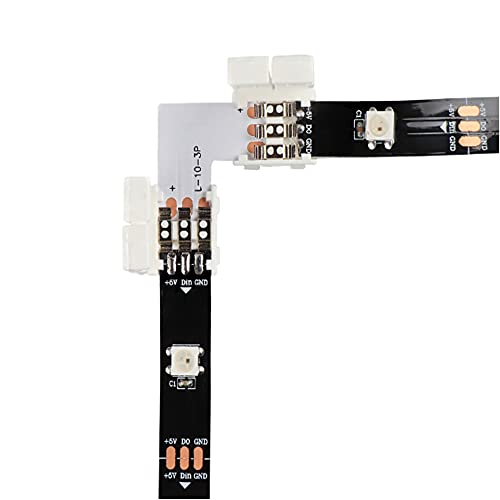 Wandskllss Conector Led Conector De Tira De Luz 5 Piezas Para Smd 5054 Tira De Led Multicolor Lámpara Exterior 10Mm (4P) 5 Paquetes