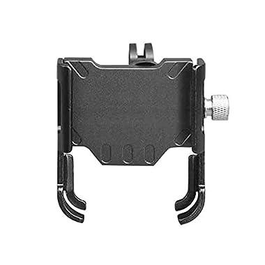 Bike Phone Mount – Bike Phone Holder – Nay Shock Aluminum Alloy Bike Phone Holder 360 Degree Rotation Accessories(Grey)