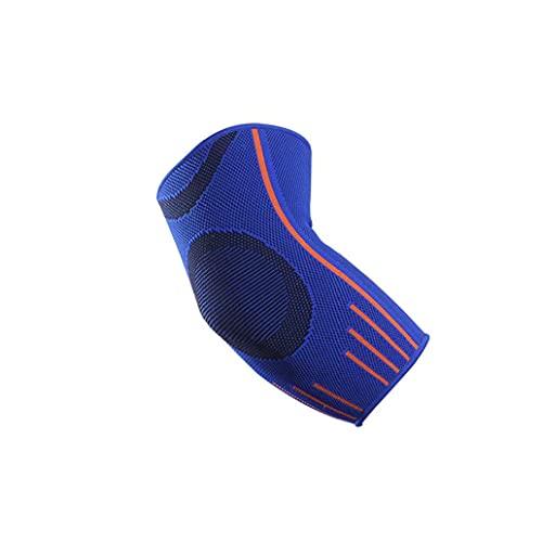 1pc UV Protection contre Le Soleil élastique extérieur Sport Bras Manches pour Le Cyclisme de refroidissement Baseball Basketball Football (Bleu, Taille M)
