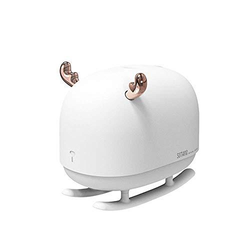 ETDWA Umidificatore d'Aria con Luce Notturna Deumidificatore ad ultrasuoni Diffusore di Olio Essenziale per Auto Domestica USB Fogger 260ML