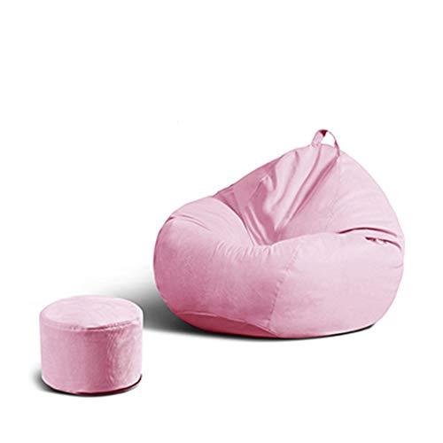 SD Grande Fauteuil/canapé/Bean Bag Chaise/Un Pouf/avec Mousse Ultra Confortable/avec Repose-Pied/pour Enfants et adultes/110 * 130 cm