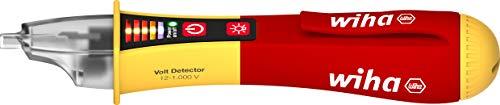 Wiha Spannungsprüfer Volt Detector berührungslos, einpolig (43797) 12 – 1.000 V AC inkl. 2X AAA-Batterien, Rot Gelb