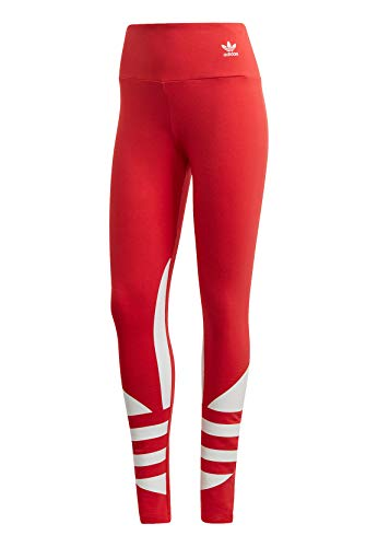 adidas Large Logo LG, Leggings Sportivi Donna, Rosso (Lush Red/White), 38