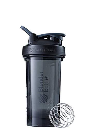 BlenderBottle Pro24 Tritan Trinkflasche mit BlenderBall, optimal geeignet als Eiweiß Shaker, Protein Shaker, Wasserflasche, BPA frei, skaliert bis 500 ml, Fassungsvermögen 710 ml, schwarz