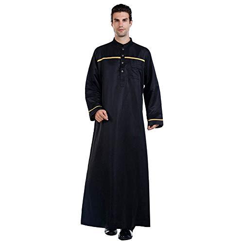 Xingsiyue Saudi-Arabische Männer Jubba Robe Muslim Islamic Thobe Langarm Kaftan Abaya Mittlerer Osten Dubai Lose Ethnische Kleidung